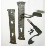Kované dveřní kování M2, Klika M2
