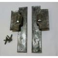 Kované dveřní kování H, kovaná klika H