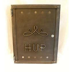 Kovaná dvířka na hlavní uzávěr plynu, HUP