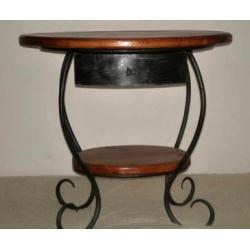 Kovaný noční stolek se šuplíkem