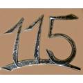 Kované popisné číslo, číslo na dům