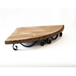 Kovaná rohová police, stolek